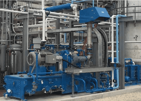 compressed air system on production floor